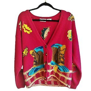 Vintage 90s granny 'ugly' sweater cardigan